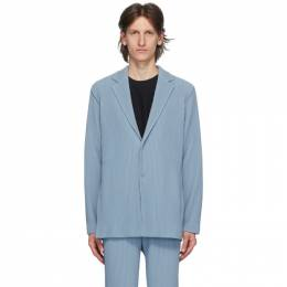 Homme Plisse Issey Miyake Blue Tailored Pleats 2 Blazer HP06JD212
