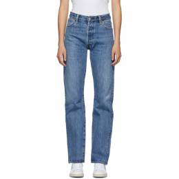 Re/done Blue High-Rise Loose Jeans 1158HRL
