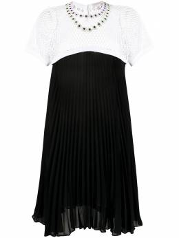 Christopher Kane платье с кристаллами PF20DR3592PEARLGEORGETTEBLACK