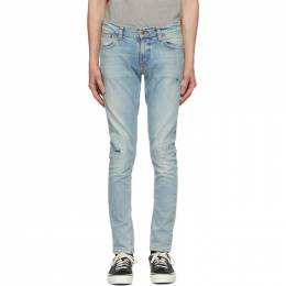 Nudie Jeans Blue Tight Terry Jeans 113330