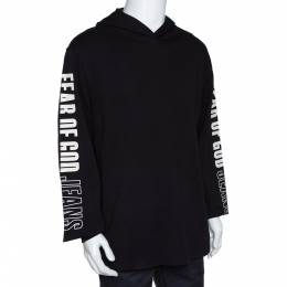 Fear Of God Jeans Fifth Collection Black Knit Hoodie M 296120