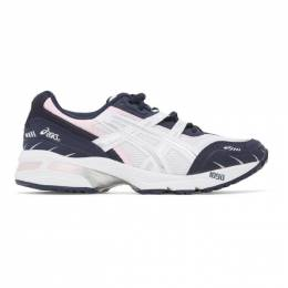 Asics White and Navy GEL-1090 Sneakers 1022A289.100