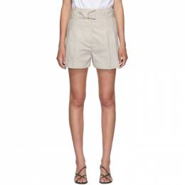 3.1 Phillip Lim Beige Belted Utility Shorts P201-5450LCP
