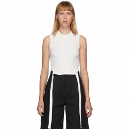Dion Lee White Double Tie Halter Top A3398P20