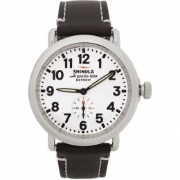 Silver and White The Runwell 41mm Watch Shinola S0110000019