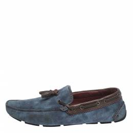 Blue Shaded Suede Loafers Size 44 Berluti 297117