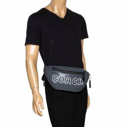 Coach Grey Leather Body Bag 298353
