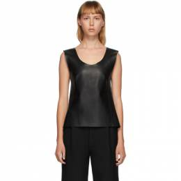 Toteme Black Leather Bergara Tank Top 203-730-702