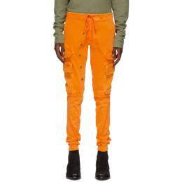 Greg Lauren Orange Army Cargo Pants AM185