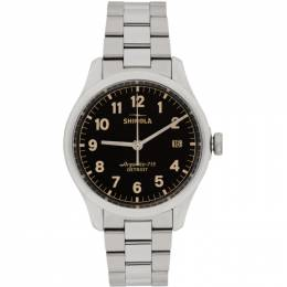 Silver and Black The Vinton 38mm Watch Shinola S0120141278