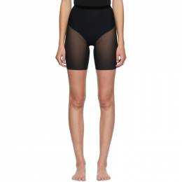 Wolford Black Tulle Control Shorts 69552