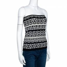 M Missoni Monochrome Knit Strapless Top M 299644