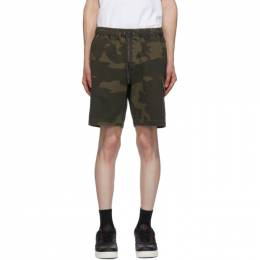John Elliott Brown Utility Cargo Shorts F127G87562A