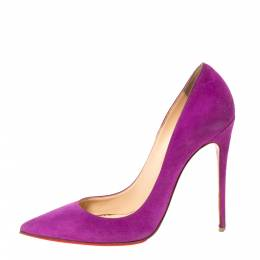 Christian Louboutin Purple Suede Leather So Kate Pointed Toe Pumps Size 39 302311