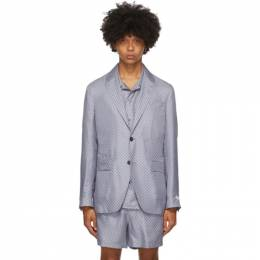 Tiger Of Sweden SSENSE Exclusive Blue Giacca AMF Blazer T68982004S