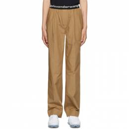 T by Alexander Wang Tan Pull-On Pleated Lounge Pants 4WC2204047