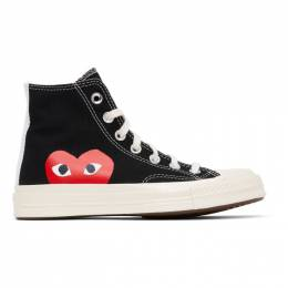 Comme des Garcons Play Black Converse Edition Half Heart Chuck 70 High Sneakers K112