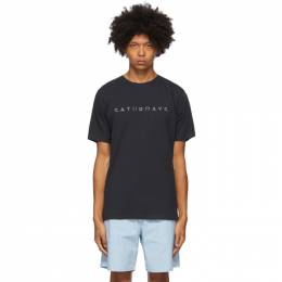 Saturdays Nyc Navy Horizon T-Shirt M32029PT01