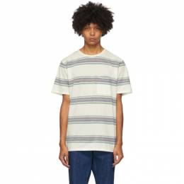 Saturdays Nyc White Stripe Randall Pocket T-Shirt M32012RN01