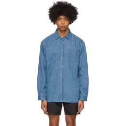 Saturdays Nyc Indigo Denim Kenmare Shirt M22020KE01