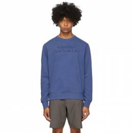 Saturdays Nyc Indigo Bowery Miller Crewneck Sweatshirt M32028BW02