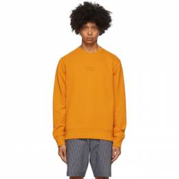 Saturdays Nyc Orange Bowery United Crewneck Sweatshirt M32028BW01