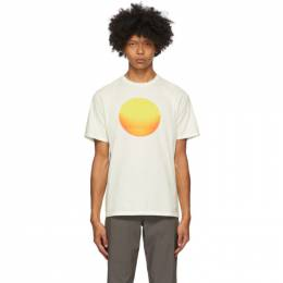 Saturdays Nyc Off-White Sunrise Sunset T-Shirt M32029PT11