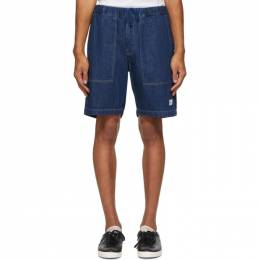 Saturdays Nyc Indigo Denim Quinn Shorts M32021QN01