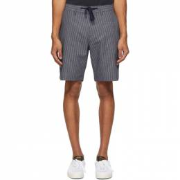 Saturdays Nyc Indigo Stripe Mako Shorts M32021MK01