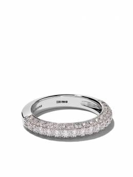 18kt white gold DB Darling half pavé diamond large band De Beers J1DD71Z00W
