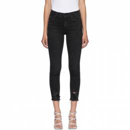 Agolde Black Sophie Mid-Rise Ankle Jeans A018C-844