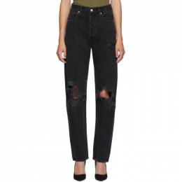 Agolde Black 90s Loose Fit Jeans A069B-998