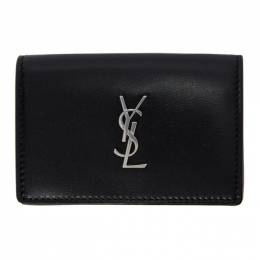 Saint Laurent Black Monogramme Snap Wallet 6067340SX0E