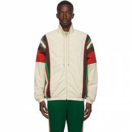 Gucci Off-White Crinkle Web Track Jacket 625293 XJCNL