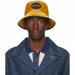 Gucci Yellow Off The Grid GG Supreme Bucket Hat 627115 4HK79