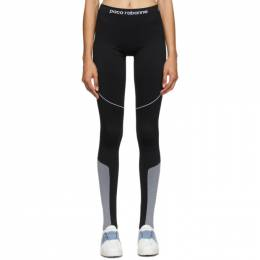 Paco Rabanne Black Bodyline Logo Leggings 19EJPA003PA0135