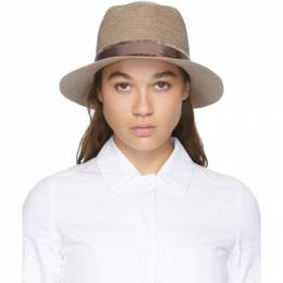 Maison Michel Tan Andre Straw Hat 1003085003