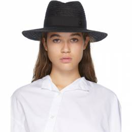 Maison Michel Black Andre Straw Hat 1001048001