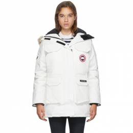 Canada Goose White Down Expedition Parka 4660L