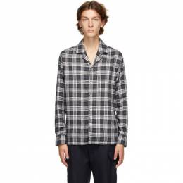 Officine Generale Black and Grey Dario Piping Check Shirt W20MSHI008PRE
