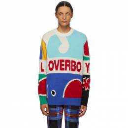 Multicolor Knit Logo Graphic Sweater Charles Jeffrey Loverboy COREAW20LLGJ