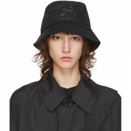 Black Canvas Bucket Hat Random Identities A-49