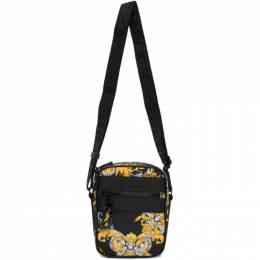 Versace Jeans Couture Black and Gold Barocco Crossbody Bag EE1YZAB69 E71594