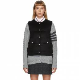 Thom Browne Black Downfill Snap Vest FVD005X-05387