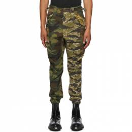 R13 Multicolor Camouflage Military Cargo Pants R13M0426M-MUL