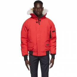 Canada Goose Red Down Chilliwack Bomber Jacket 7999M