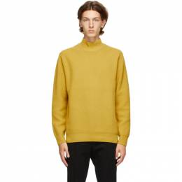Yellow Wool Turtleneck Solid Homme KN31