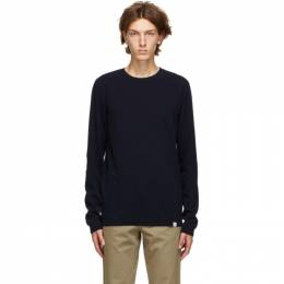 Norse Projects Navy Light Wool Sigfred Sweater N45-0416