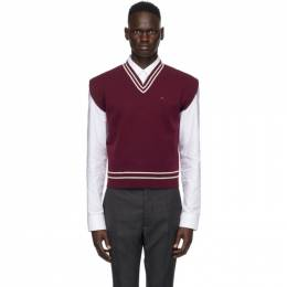 Maison Margiela Burgundy and White Gauge 12 Vest S30HB0239 S17446