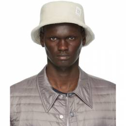 Thom Browne Off-White Shearling Bucket Hat MHC327X-04754
